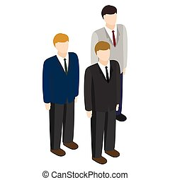 Businessmen icon, isometric 3d style