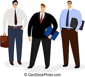Businessmen icon set isolated on white