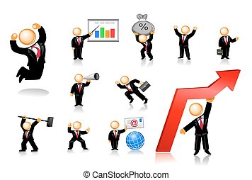 Businessmen Icon Set