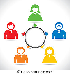 color business people in meeting stock vector