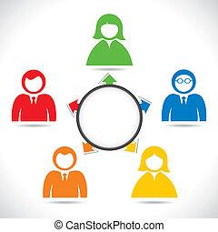 businessmen in meeting - color business people in meeting...
