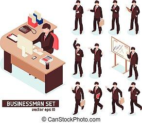 Businessmen Isometric Set