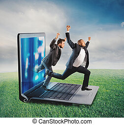 Technology addiction concept