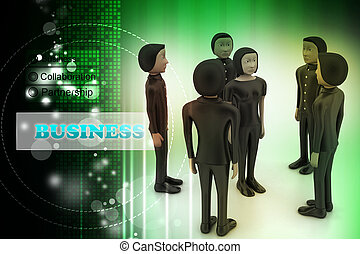businessmen., liderança, equipe