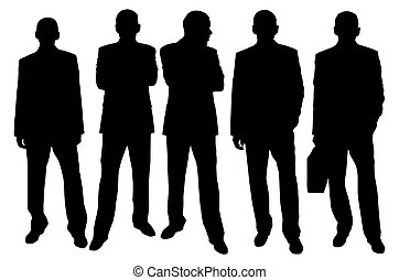 businessmen - made from my photos