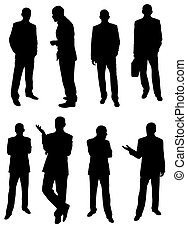 businessmen - made from my photos, isolated people