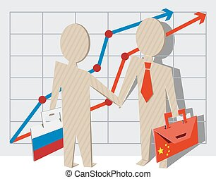Businessmen of Russia and China
