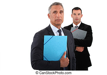 Businessmen on white background