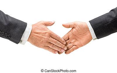 businessmen, otřes, ruce