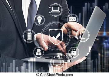 Finance, teamwork and communication concept