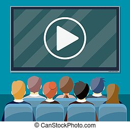 Cinema, business video presentation,
