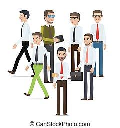 Businessmen Standing Full Length Portrait on White