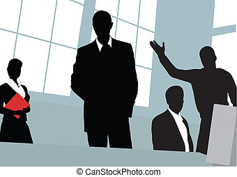 Businessmen. The Office. Blackenning series. Vector...