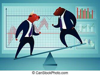 Businessmen, Traders Vector Cartoon Characters