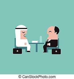 Businessmen vector illustration - Businessmen on a meeting...