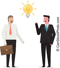 Businessmen With an Idea.