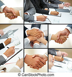 businesspeople, 手