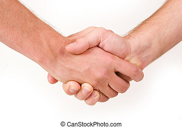 Businesspeople #17 - Two business partners shaking hands -...