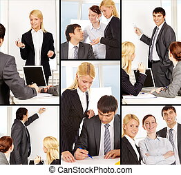 Businesspeople at work