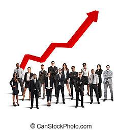 businesspeople, av, framgångsrik, företag