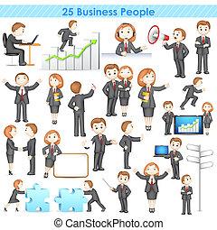 businesspeople, collezione, 3d