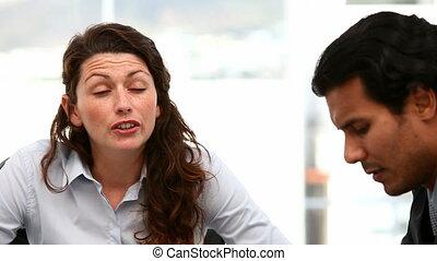 Businesspeople during brainstorming