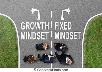 businesspeople, fila, standing