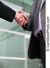 Businesspeople handshaking