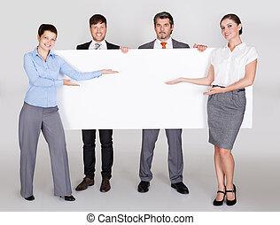 businesspeople, holdingen, affisch