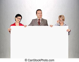 businesspeople, holdingen, tom, affisch