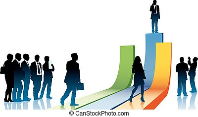 Businesspeople in a hurry - People are going to take their...