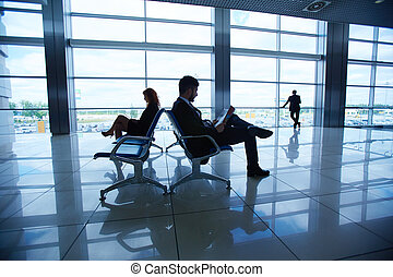 Businesspeople in airport
