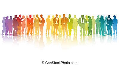 businesspeople, kleurrijke