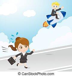 businesspeople, konkurrieren