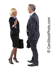 Businesspeople making small talk