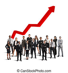 Businesspeople of successful company