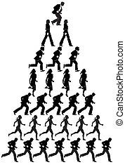 businesspeople, pirámide