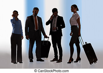 Businesspeople Ready For Journey