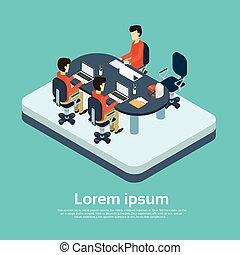 businesspeople, séance, intérieur, bureau bureau