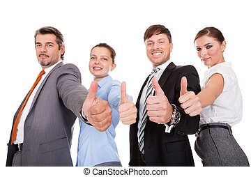 Businesspeople Showing Thumb Up