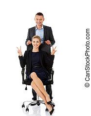 businesspeople, sostenere, altro