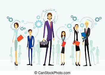 businesspeople team group, human resource flat