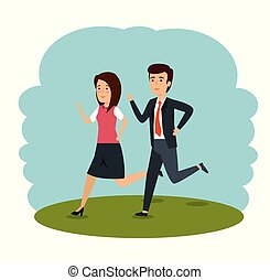 businesspeople teamwork professional cooperation plan