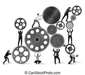 businesspeople, trabajo en equipo