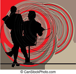 businesspeople., vecteur, illustration