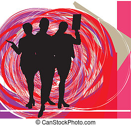 businesspeople., vector, ilustración
