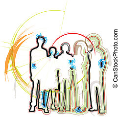 businesspeople., vector, ilustración