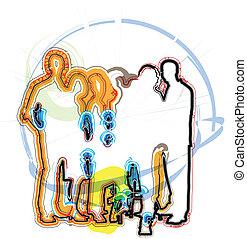businesspeople., vetorial, ilustração