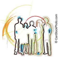 businesspeople., wektor, ilustracja