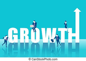 businesspeople with growth concept